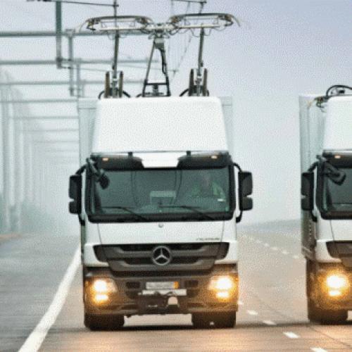 eHighway für Lkw startet zwischen Frankfurt und Darmstadt