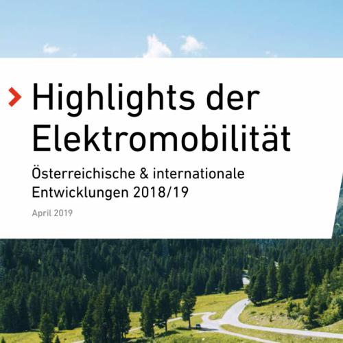AustriaTech: Highlights der E-Mobilität 2018/19