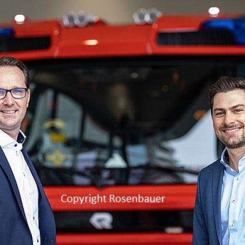 Markus Schachner und Michael Kaiser, Geschäftsführer der RED