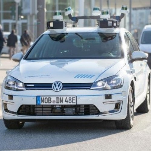 Autonomes Fahren: Volkswagen testet Robo-Autos in Hamburg