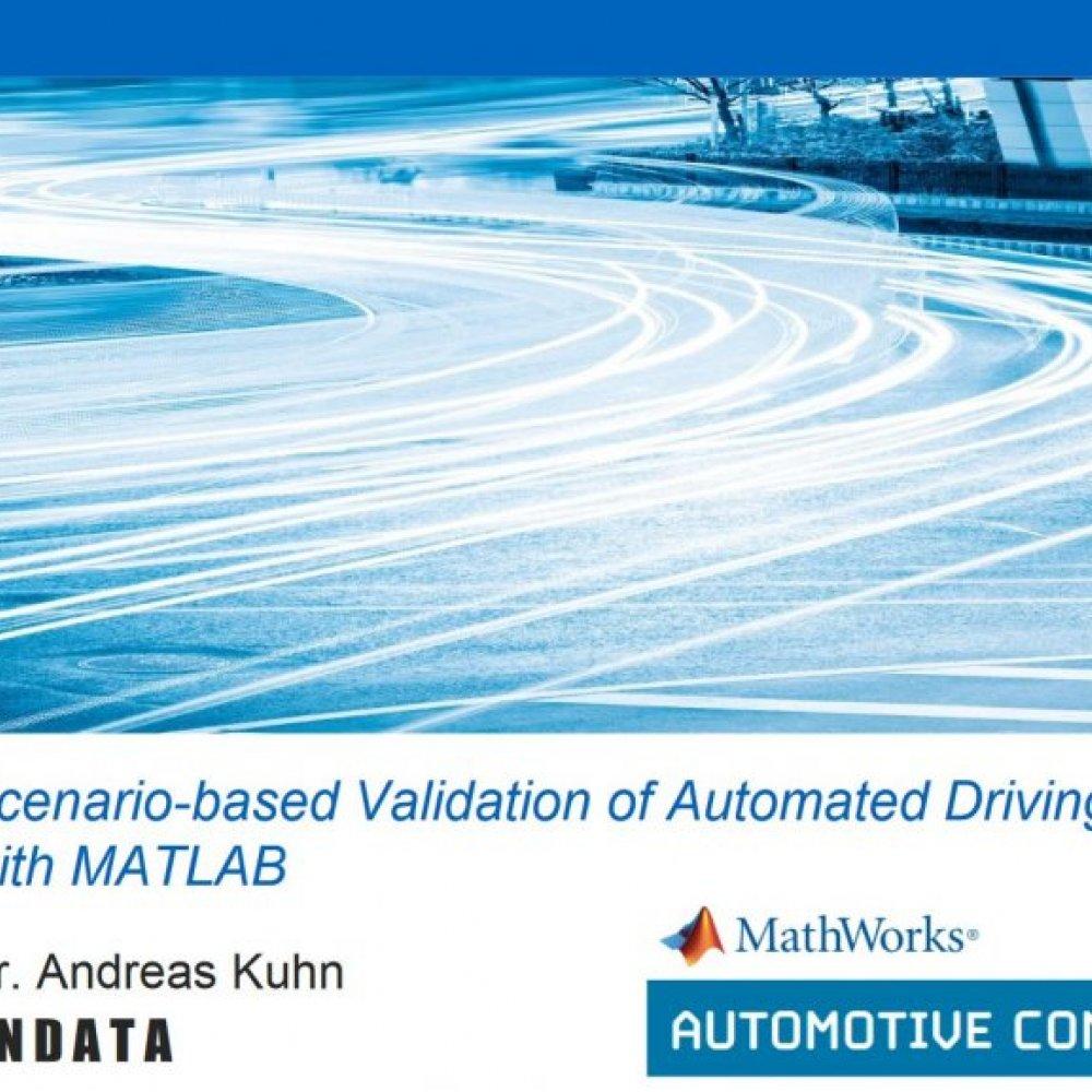 ANDATA Vortrag auf MathWorks Automotive Conference 2019