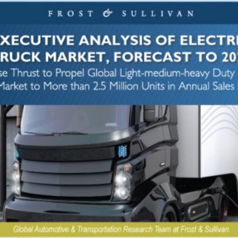 Frost & Sullivan: Studie zum Markt für Elektro-Lkw